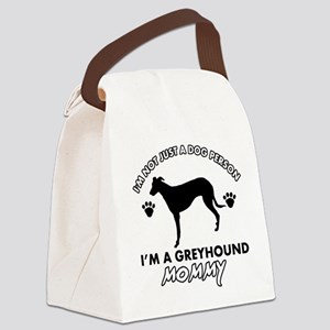 Greyhound dog breed designs Canvas Lunch Bag